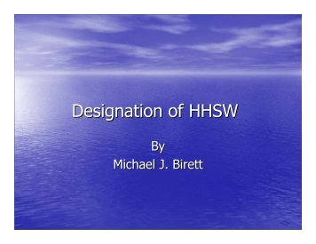 Designation of HHSW - Product Care