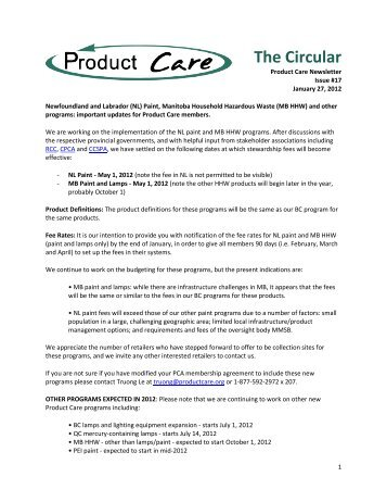 The Circular - Product Care