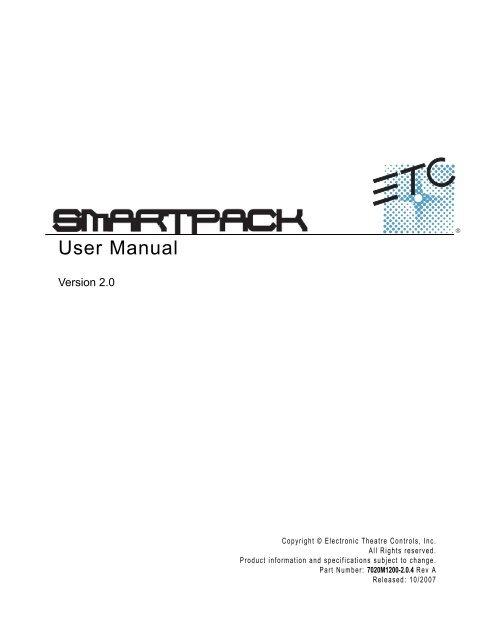 SmartPack User Manual v2 0 4 rev A - Production Services Ireland