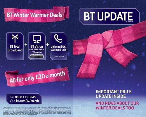 Bt Update Great Value Broadband Phone Digital Tv And Mobile