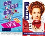 BT UPDATE - Great value broadband, phone, digital TV and mobile ...