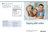 Staying safer online