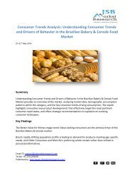 JSB Market Research - Consumer Trends Analysis: Understanding Consumer Trends and Drivers of Behavior in the Brazilian Bakery & Cereals Food Market
