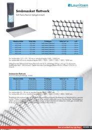 Småmasket flettverk - Produktfakta