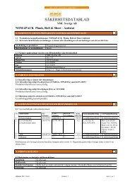 NOMATEC Parkett - SDB - Produktfakta