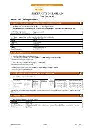 NOMAPACK Plank, Sheet, Roll - SDB - Produktfakta