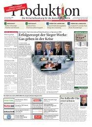 Sieger-Werke bei Fabrik des Jahres geben Gas in der ... - Produktion