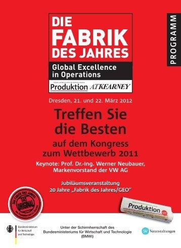 Die Fabrik des Jahres 2011 - Produktion