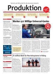 Werker 4.0: Willige Universal-Genies - Produktion