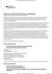 Warnung vor italienischen Bio-Oliven mit Mandeln