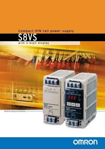 Compact DIN rail power supply