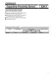 Capacitive Proximity Sensor E2K-F