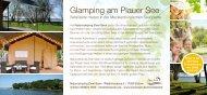 Glamping am Plauer See: Safarizelte zum Mieten direkt am Badeufer