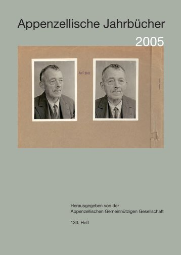 Appenzellische Jahrbücher - Appenzellische Gemeinnützige ...