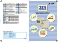 The ZEN from OMRON for easier and simpler small-scale automation.