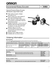 Incremental Rotary Encoder E6B2 Ordering Information