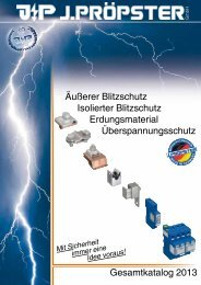 Gesamtkatalog 2013 Äußerer Blitzschutz Isolierter Blitzschutz ...
