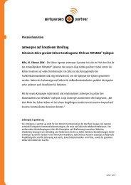 antwerpes auf kreativem Streifzug - DocCheck AG