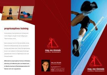 Training mit Mag. Eva Rümmele - Univ. Prof. Dr. W. Reiterer