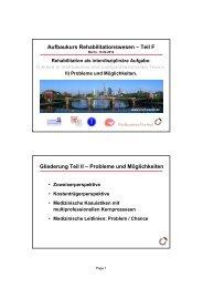 Aufbaukurs Rehabilitationswesen – Teil F ... - Prof-wendt.de
