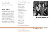 Sexualpädagogik - pro familia Schleswig-Holstein