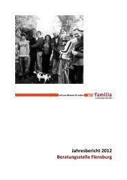 Liebe Leserin, lieber Leser, - pro familia Schleswig-Holstein