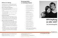 HPV-Impfung ja oder nein? - pro familia Schleswig-Holstein