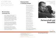 Partnerschaft und Sexualität - pro familia Schleswig-Holstein