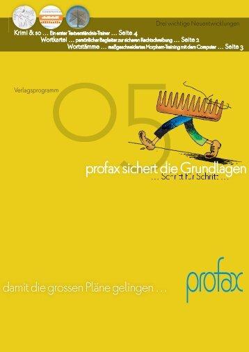 Verlagsverzeichnis 2005 - profax Verlag AG