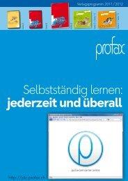 Selbstständig lernen: jederzeit und überall - profax Verlag AG
