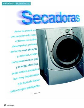 Secadoras de ropa - Profeco