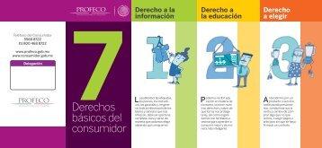 7 derechos básicos del consumidor - Profeco