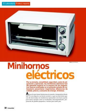 Minihornos eléctricos - Profeco