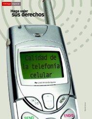Calidad de la telefonía celular - Profeco