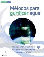 Métodos para purificar agua - Profeco