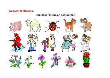 Lecture de dessins3 Chercher l'intrus complet - Professeur Phifix