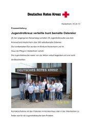 Jugendrotkreuz verteilte bunt bemalte Ostereier - Drk-Heidenheim