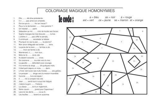Coloriage Magique Site Professeur Phifix
