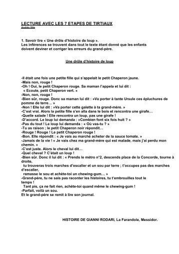LECTURE AVEC LES 7 ETAPES DE TIRTIAUX - Professeur Phifix