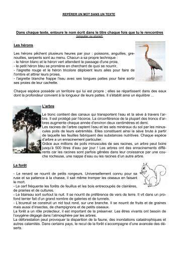 (Lecture cycle 3 - Fiche 5 rep\351rer mot dans ... - Professeur Phifix