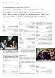 Produktionstelegramm aus PP 04/13 - Professional Production