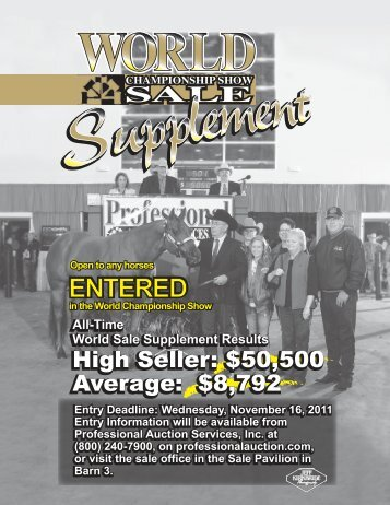 High Seller - Professional Auction Services, Inc.