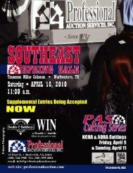 Saturday, April 10, 2010 - Professional Auction Services, Inc.