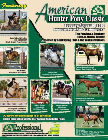 Download the Sale Catalog of Ponies - Professional Auction ...
