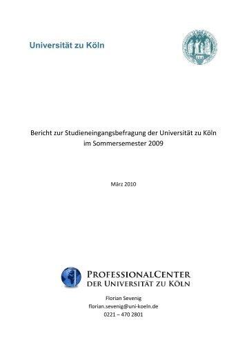 Ergebnisbericht Sommersemester 2009 - Professional Center ...