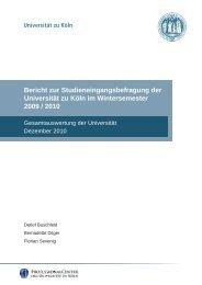 Ergebnisbericht Wintersemester 2009/2010 - Professional Center ...
