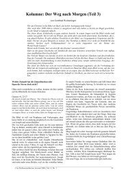 Kolumne: Der Weg nach Morgen (Teil 3) - Professorenforum