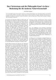Das Christentum und die Philosophie Kant's in ihrer Bedeutung für ...