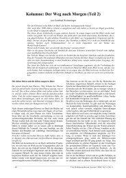 Kolumne: Der Weg nach Morgen (Teil 2) - Professorenforum