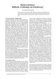 Buchrezensionen: Biblische Archäologie am Scheideweg ...